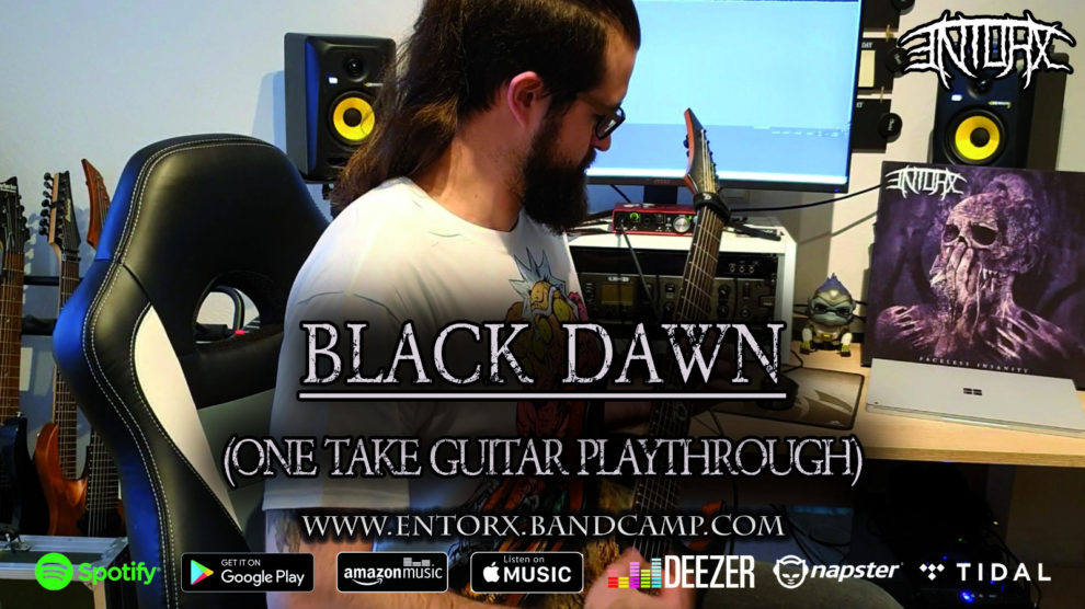 ENTORX - Prorgessive Death / Thrash Metal from Germany - One Take Playthrough of Black Dawn